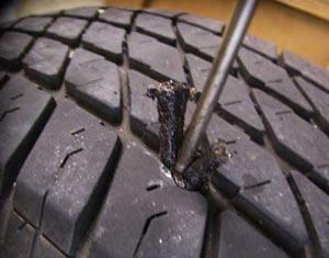 Ремонт шин с помощью жгута